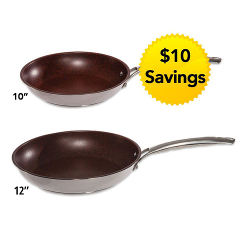 10 Inch & 12 Inch Stainless Steel Skillet Combo Set