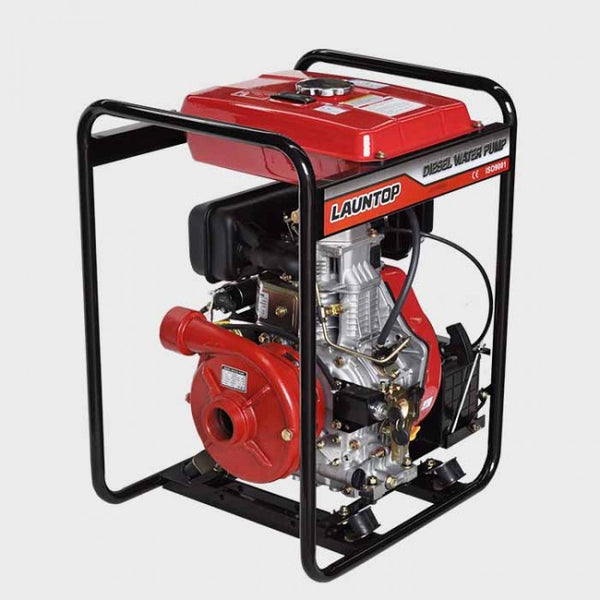 "2"" Hi Lift Cast Iron Water Pump 10HP Diesel Engine with Electric Start 