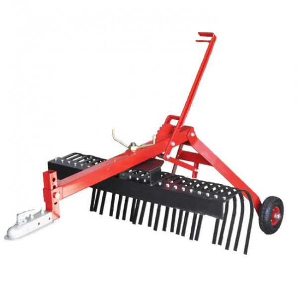 1200mm 4ft Landscape Stick Rake Tow Behind ATV | QualityJack