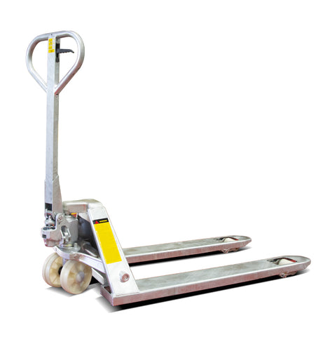 2T Galvanised Pallet Jack Truck 685mm wide | QualityJack
