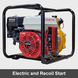 "7HP 4 Stroke Petrol Engine 1.5"" Twin Impeller Fire Fighting Pump Electric Start 