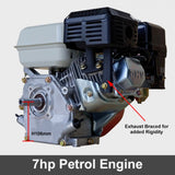 7HP Petrol Engine 4 Stroke Electric Start 6.5HP Replacement | QualityJack