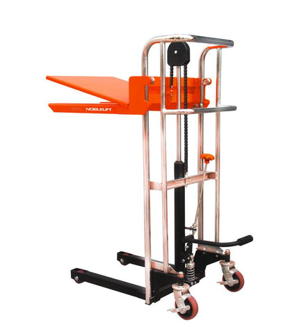 400Kg Manual Platform Fork Stacker Lifting 1500MM | QualityJack