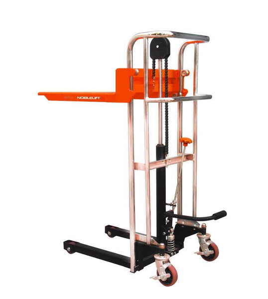 Platfrom stacker manual stacker capacity 400kg lifting 1500mm | QualityJack