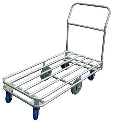 Galvanised Tube Deck Industrial Platform Trolley 300Kg | QualityJack