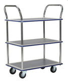 Signature Three Level platform Industrial Trolley Storage Cart 300Kg | QualityJack