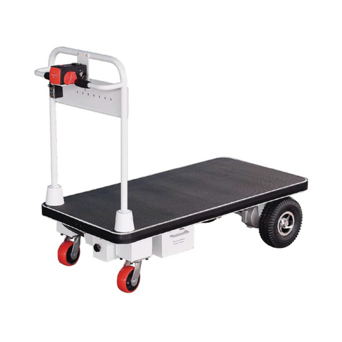 Fully Electric Powered Flatbed Trolley Cart 500Kg | QualityJack