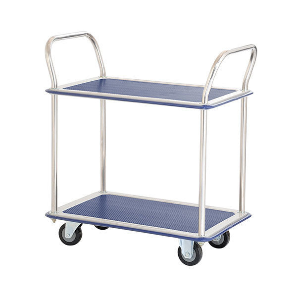Two Level Platform Industrial Trolley Storage cart 220Kg - Quality Jack