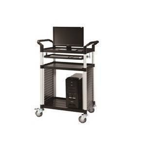 Triple Deck Audio Visual Platform Trolley Cart 200Kg | QualityJack