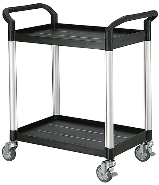 Two Tier Plastic Service Cart Trolley | QualityJack