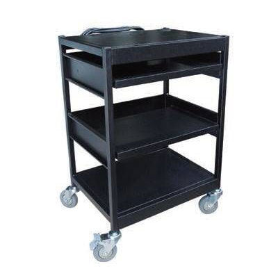 Quad Deck Computer Trolley Cart | QualityJack