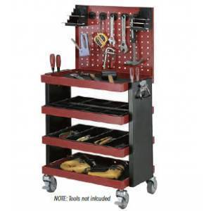 Quad Deck Tool Trolley Cart with Tool Board 200Kg | QualityJack