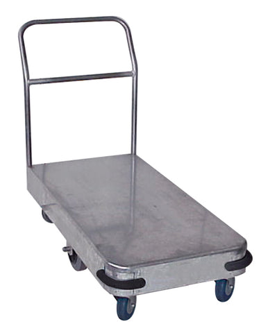 Galvanised Single Smooth  Deck Industrial Platform Trolley | QualityJack