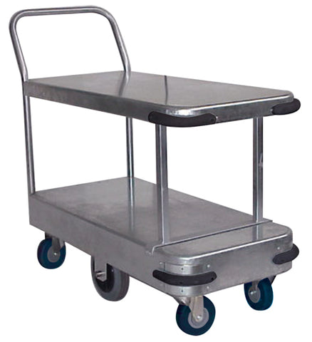 Galvanised Twin Deck Platform Trolley | QualityJack