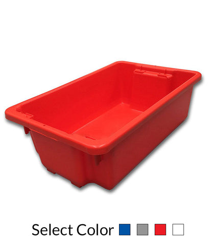32L Plastic Crate Stack & Nest Container 645 X 413 X 210Mm - Blue Ih060 | QualityJack