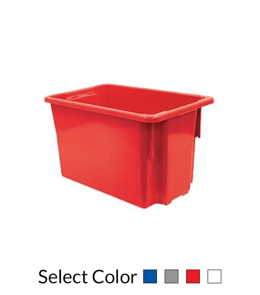 68L Plastic Crate Stack & Nest Container 645 X 413 X 397Mm - Blue Ih078 | SkyJacks