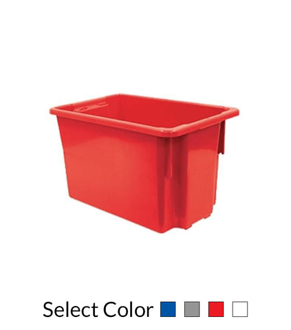 68L Plastic Crate Stack & Nest Container 645 X 413 X 397Mm - Blue Ih078 | QualityJack