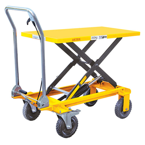 Manual Scissor Lifter Table Lift Capacity 200kg | SkyJacks