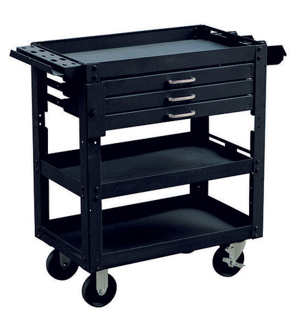 3 Tier Workshop Metal Mechanic Handyman Tool Cart | QualityJack