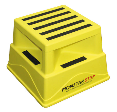 Monstar Plastic step up stool max capacity 180kg - Quality Jack