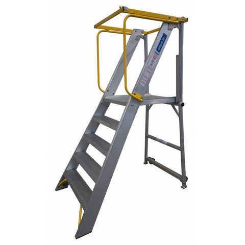 7 Step INDALEX Order Picker Ladder 180kg | QualityJack
