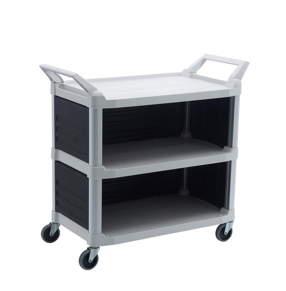 3 Shelf Utility Cart with 3 Panel | QualityJack
