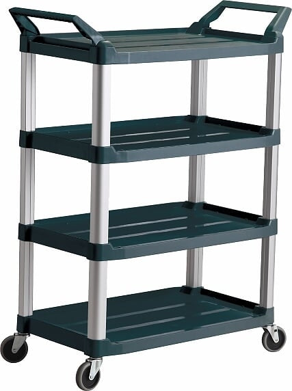 4 Shelf Utility Trolley Cart 135kg Capacity | QualityJack