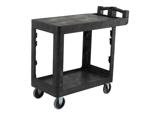 Bitbar 2 Tier Flat Shelf Utility Cart Trolley | QualityJack