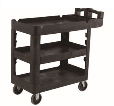Bitbar 3 Shelf Utility Cart Trolley | QualityJack