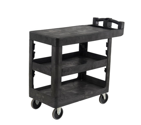 Bitbar 3 Flat Shelf Utility Cart Trolley | SkyJacks
