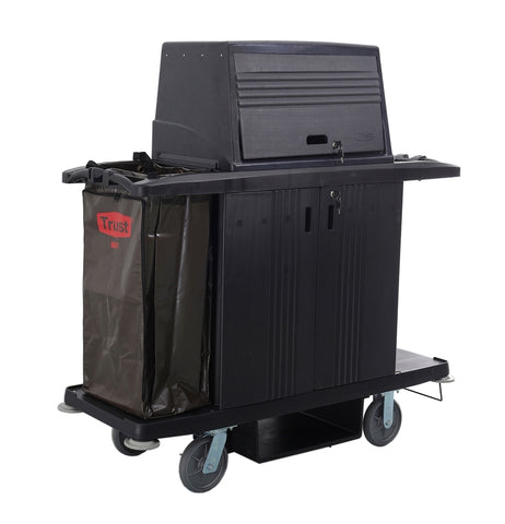 GRANDMAID Housekeeping Cart with Doors and Protective Security Hood | SkyJacks