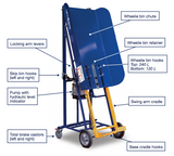 Manual Wheelie Bin Lifter Capacity 100kg Lifting 1500mm | QualityJack
