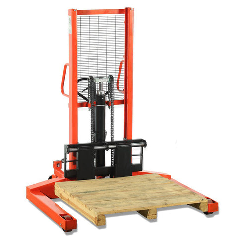 Manual Stacker Lifter Straddle Leg 1T Lift Height 1600MM | QualityJack