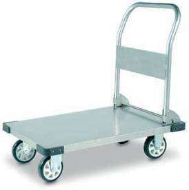 Foldable Stainless Steel FlatBed Industrial Platform Trolley 500Kg | QualityJack