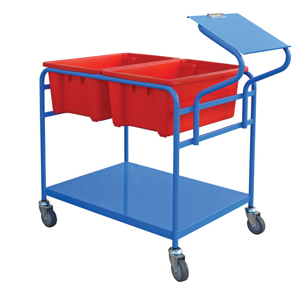Double Tub Order Picking Trolley Capacity 250Kg | QualityJack