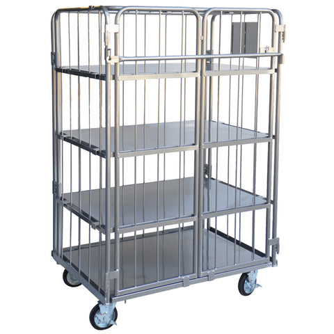 Heavy Duty Security Cage Trolley with doors and roof 500kg | QualityJack