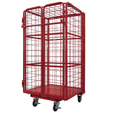 Heavy Duty Cage Trolley with Pad Lockable doors 500kg | SkyJacks