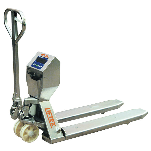 Stainless Steel 2000kg Pallet Trucks With Load Scales | QualityJack