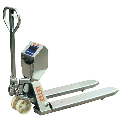 Stainless Steel 2000kg Pallet Trucks With Load Scales | SkyJacks