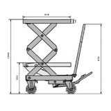 Double Scissor Lift Table Lift 350kg 1300mm High | QualityJack