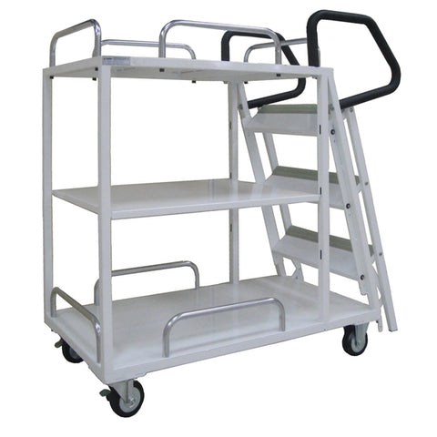 3 Step Ladder Stock Picking Trolley | QualityJack