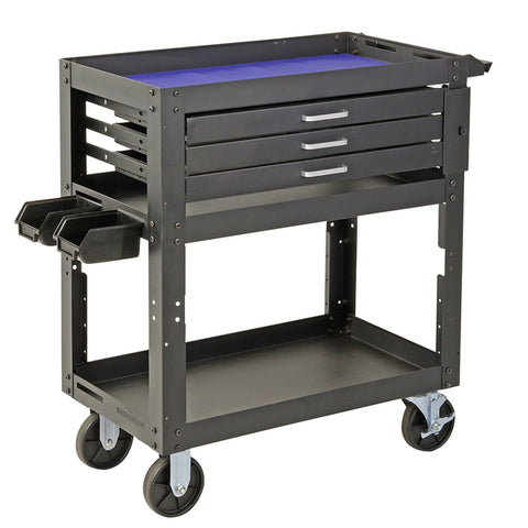 3 Tier Workshop Steel Mechanic Handyman Tool Cart