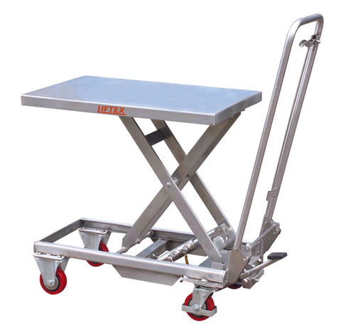 Aluminium Scissor Lift Trolley Load Capacity 100kg | QualityJack