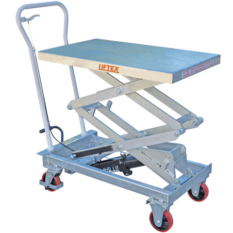 Galvanised Scissor Lift Trolley 150kg load capacity | QualityJack