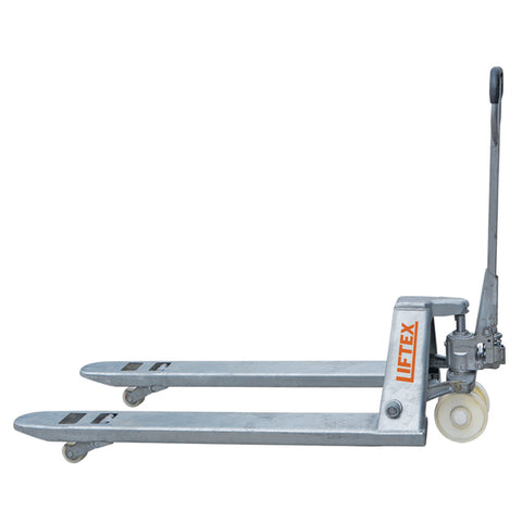 2000kg Euro Galvanised Pallet Truck 520mm Wide | QualityJack
