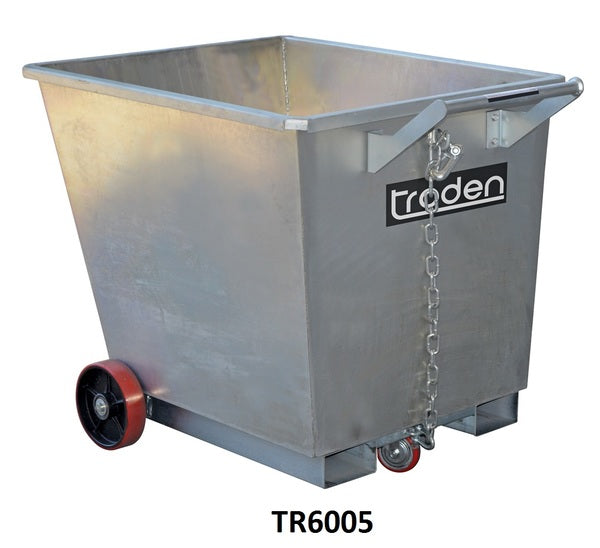 Zinc Plated Forklift Waste Tipping Bins | QualityJack