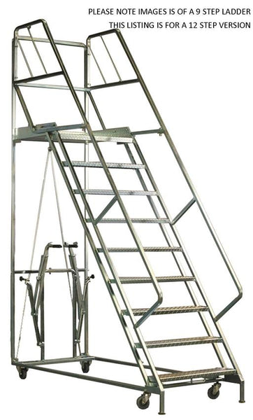 7 Steps Mobile Platform Step Ladders | QualityJack