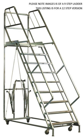 11 Steps Mobile Platform Step Ladders | QualityJack