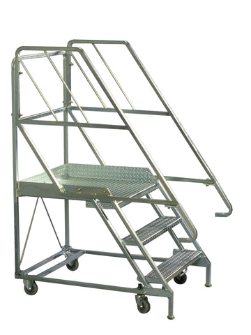 3 Steps Mobile Platform Step Ladders | QualityJack