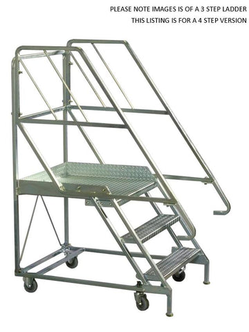 4 Steps Mobile Platform Step Ladders | QualityJack